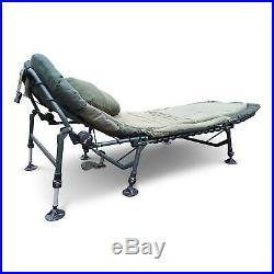 Cyprinus Tilt Memory Foam Carp Fishing Camping Bedchair With Pillow Bed New UK