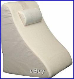 Deluxe Bed Wedge Adjustable Neck Roll, Removable Hook Washable Lightweight New