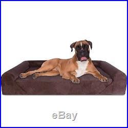 Deluxe Orthopedic Memory Foam Sofa Lounge Dog Bed JUMBO XL Brown