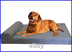 Dogbed4less Premium HeadRest Pillow Orthopedic Cool Memory Foam Dog Bed for with