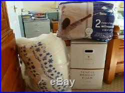 Dorma Tencel Memory Foam double mattress topper used only once plus 2 pillows
