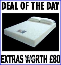 Double size Visco Elastic Memory Foam Mattress FREE P&P+ FREE PILLOWS+FREE COVER