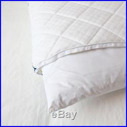 Down and Feather Queen Pillow Medium-Soft Memory Foam Cover Rev-Cool Fabric