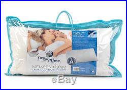 Dreamtime MFDT82099HF Memory Foam Choice Comfort Pillow, Cotton, White