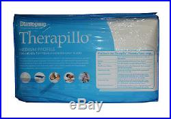 Dunlopillo Therapillo Cooling Gel Top Medium Profile Memory Foam Pillow RRP $179