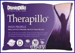 Dunlopillo Therapillo Memory Foam Dual Contour High Profile Pillow RRP $189.95