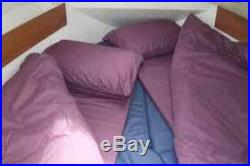 Duvalay Memory Foam Sleeping Bag (single) Plum Colour Next Day delivery