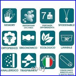 EVERGREENWEB Materasso Singolo 80x190 in Poliuretano + Cuscino GRATIS
