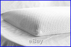 Elite Rest Ultra Slim Sleeper Firm Memory Foam Pillow, Cotton Cover, 2.5 Inches