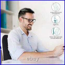 Ergonomic Office Lumbar Pillows Support Pillow For Chair, Memory Foam Back Cushio