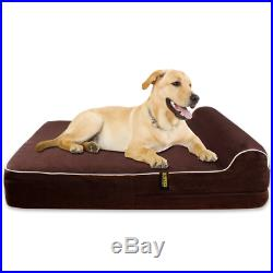 Extra Large 7 Thick Orthopedic Memory Foam Dog Bed With 3'' Pillow Includes W