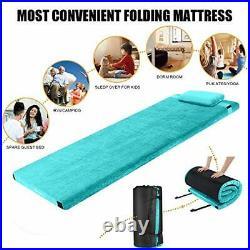 FBSPORT Memory Foam Floor Mattress with Pillow Camping Mattress/Car Travel Ma