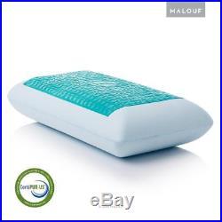 Gel Memory Foam Pillow Dough Cooling Comfort Bamboo Velour Cover Bed Sleeping