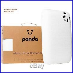 Genuine Panda Luxury Memory Foam Bamboo Pillow Hypoallergenic Antibacterial UK