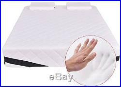 Giantex Queen Size 12' Memory Foam Mattress Pad Bed Topper With 2 FREE Pillows
