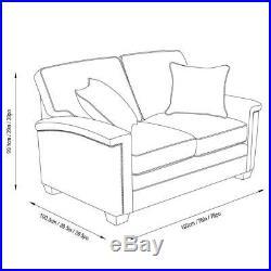 Grey Fabric Memory Foam Mattress Sofa Bed With Nailhead Trim & 2 Accent Pillows