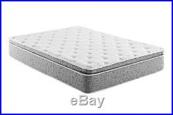 Grey Firm Pillow Top Hybrid Gel Memory Foam 1-Pc Rolled Mattress Full 12 Inches