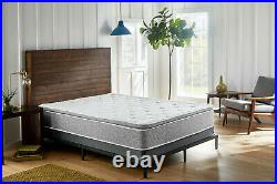 Grey Firm Pillow Top Hybrid Gel Memory Foam 1-Pc Rolled Mattress Twin 12 Inches