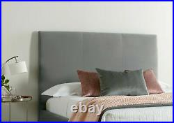 Grey Ottoman Storage Bed Frame Gas Lift Memory Foam Mattress