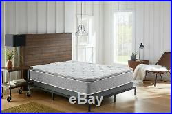 Grey Pillow Top Hybrid Gel Memory Foam 1 Piece Mattress C. King Size 10 Inches