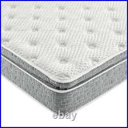 Grey Pillow Top Hybrid Gel Memory Foam 1 Piece Mattress Full Size 10 Inches