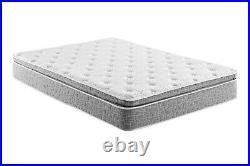 Grey Pillow Top Hybrid Gel Memory Foam 1 Piece Mattress King Size 10 Inches