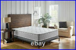 Grey Plush Pillow Top Hybrid Gel Memory Foam 1-Pc Mattress Full Size 12 Inches