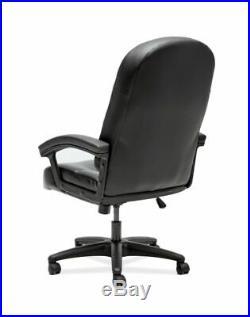 HON Pillow-Soft High-Back Chair Plush Black, Memory Foam, Leather Seat Fiber