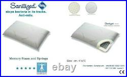 HUGGE Hybrid luxury anti bacterial pillow memory foam + coils made in Italy