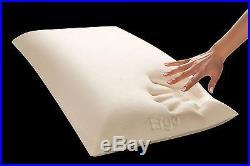 HealthGuard Ergo Utopia Advanced ViscoPlus Memory Foam Bed Pillow, King, White
