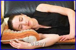 HealthyLine Amethyst Tourmaline Heated Memory Foam Pillow Neck Shoulder Support