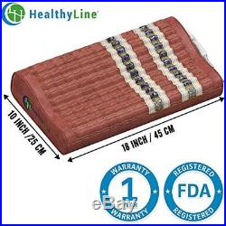 HealthyLine Natural Soft Memory Foam Pillow Neck and Shoulder Support Firm