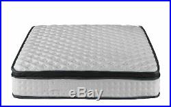 High Density 13-inch Hybrid Memory Foam and Spring Mattress with Plush Pillow