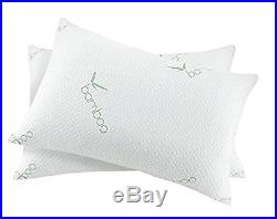 Home Sweet Home Dreams Bamboo viscose Memory Foam Hypoallergenic Bed Pillow, 2