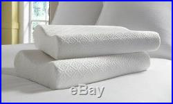 Hotel Rio Oversized Ventilated Memory Foam Contour Pillow 2 Pack White