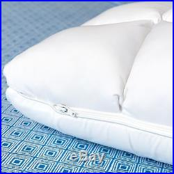 Hybrid Memory Foam Polyester Down Pillow Removable Poly Pouch Adjustabl Firmness