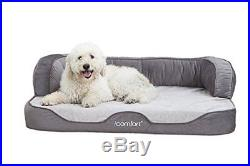 IComfort Sleeper Sofa Pet Bed with Dual Action Cool Effects Gel Memory Foam