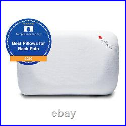 I Love Pillow Contour Sleeping Pillow with Cover, King Sized, White (2 Pack)