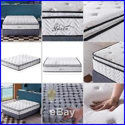 Jacia House 11.4 Inch Pillow Top Memory Foam Innerspring Independently