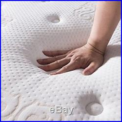 Jacia House 11.4 Inch Pillow Top Memory Foam Innerspring Independently Encased