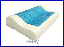Jitsu Comfort Sleep Orthopedic Cooling Gel Memory Foam Pillow With Pillowcase