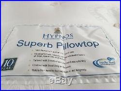 John Lewis Hypnos Superb Pillow Top Pocket Spring Mattress, Firm, Super King