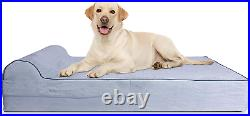 Jumbo Xl Orthopedic 7-Inch Thick High Grade Memory Foam Dog Bed With Pillow And
