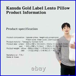 KANUDA Gold Label Lento Premium Functional Memory Form Pillow