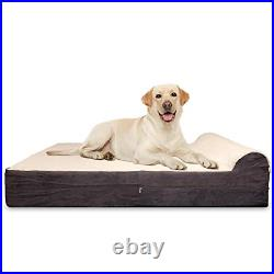 KOPEKS 7-inch Thick High Grade Orthopedic Memory Foam Dog Bed with Pillow and to
