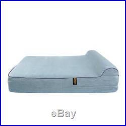 KOPEKS Deluxe Orthopedic Memory Foam Lounge Dog Bed XL Gray 127 x 85 x 18 cm