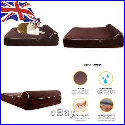 KOPEKS Large Dog Bed for Dogs with Memory Foam Orthopaedic 89 x 71 x 14 cm
