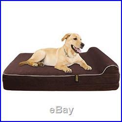 KOPEKS Orthopedic Memory Foam Dog Bed With Pillow and Waterproof Liner