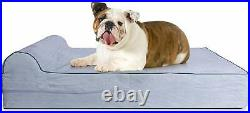 KOPEKS Orthopedic Memory Foam Dog Bed With Pillow and Waterproof Liner & A