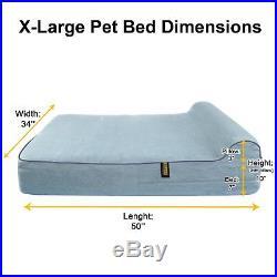 KOPEKS Orthopedic Memory Foam Dog Bed With Pillow and Waterproof Liner & Bottom